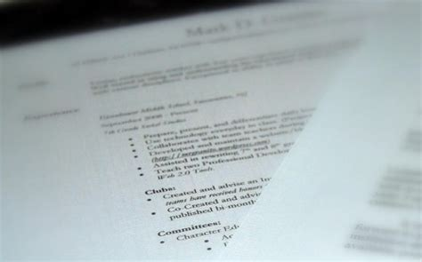 Importance Of Resume In Applying For A by Importance Of Your Resume In Your Mba Application