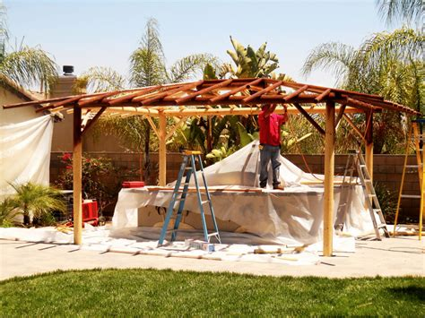 cupola design two bbq island w solid roof palapa