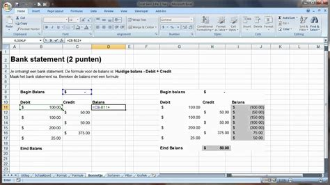 excel accounting format  formulas youtube