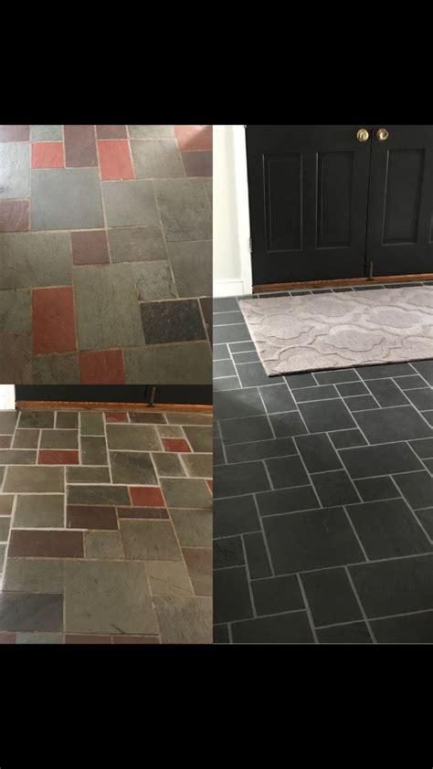 inexpensive update   slate flooring  chalk