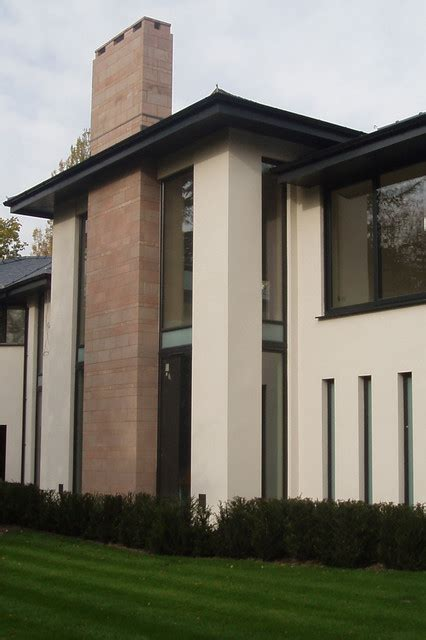 cottage window treatments modern house modern exterior manchester uk by