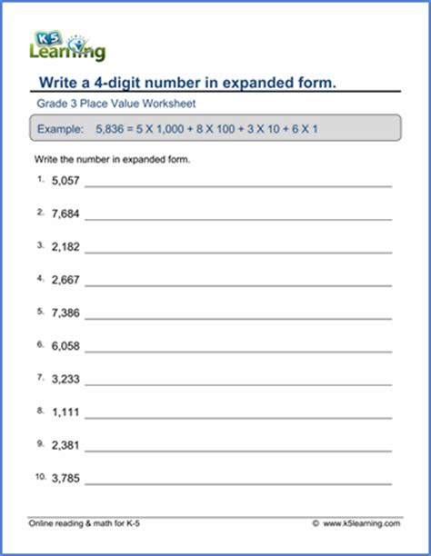 grade 3 place value rounding worksheets free
