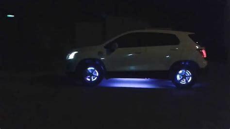 chevrolet tracker tuning luces led en rines youtube