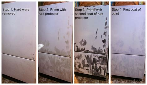 refrigerator paint rust door removing fridge painting diy easier think than