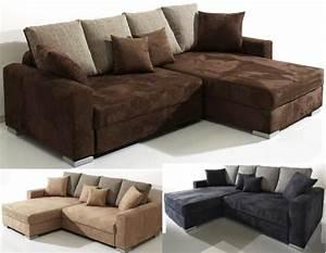 Couch Mit Federkern : polsterecke eck couch sofa microfaser mit federkern ~ Michelbontemps.com Haus und Dekorationen