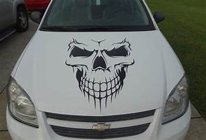 Car Skull Hood Decal Garage Home Decor Wall Hanging Graphic