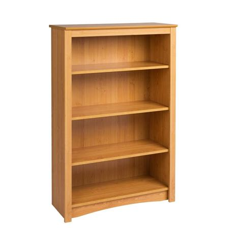 home depot shelfs prepac 4 shelf bookcase in maple mdl 3248 the home depot
