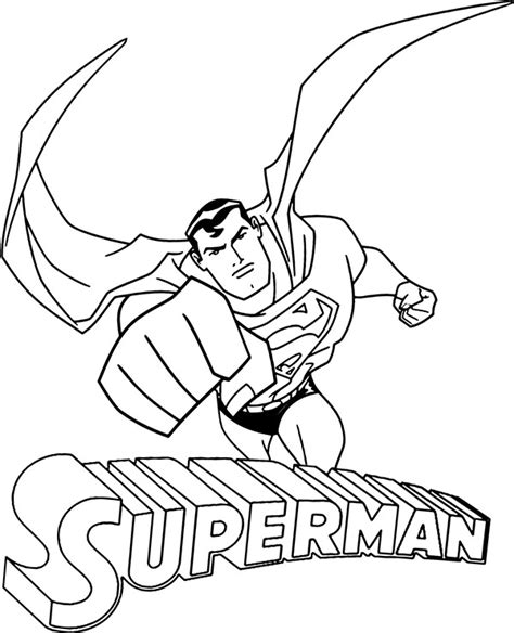 flying superman coloring sheet comic book  color