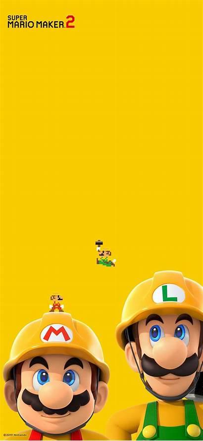 Mario Super Maker Wallpapers Bros Los Luigi