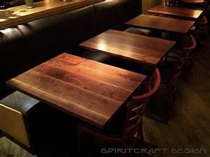 Custom solid hardwood table tops - live edge slabs