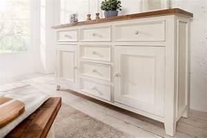Kommode Braun Weiß : sideboard byron 160 cm weiss vintage braun schrank board ~ A.2002-acura-tl-radio.info Haus und Dekorationen