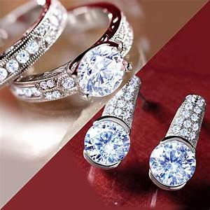 diamondaura dearly beloved rings and earrings set 20495 With stauer wedding rings