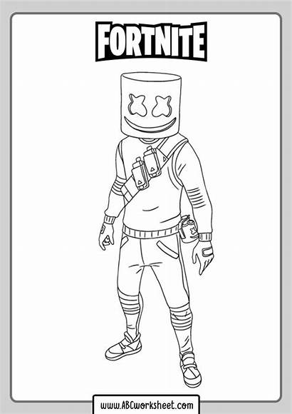 Fortnite Coloring Printable Pages
