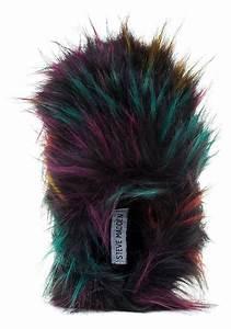 steve madden fuzzy slipper bright multi faux fur in black
