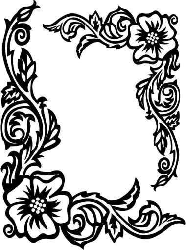 border design black  white clipart