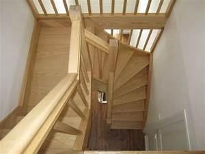 Escalier Bois Quart Tournant : escalier bois 2 quarts tournant sur mesure r novation ~ Farleysfitness.com Idées de Décoration