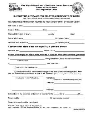 virginia vital statistics form delayed birth certificate form vs 007 fill online