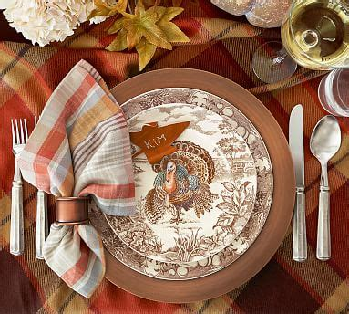 Pottery Barn Thanksgiving Plates by Traditional Turkey Dinner Plate Set Of 4 Pottery Barn