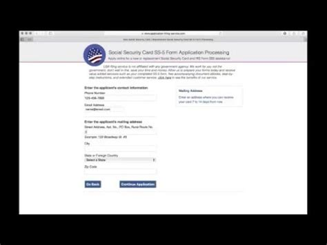social security card replacement form apply