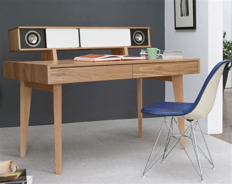 the audio desk a writing desk with built in speakers and