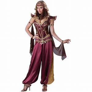Arabian Princess Costume Womens Harem Girl Belly Dancer Halloween Fancy Dress | eBay