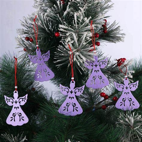 exquisite christmas ornaments 5pcs lot non woven fabric hollow exquisite pendant hanging ornaments wholesale