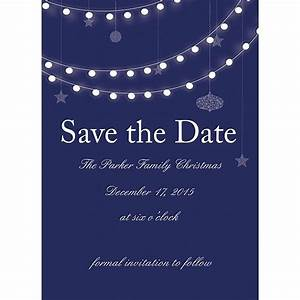 5 x 7 Holiday Lights Christmas Party Save the Date Cards ...