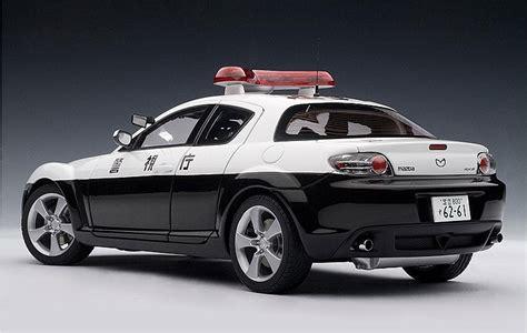 1 18 police car with autoart 1 18 mazda rx 8 police car diecast zone