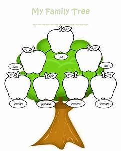 Blank family tree clipart best for Blank family tree template for kids