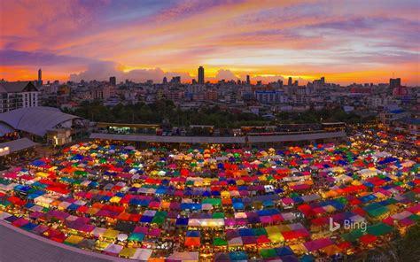 thailand bangkok ratchada night market  bing desktop