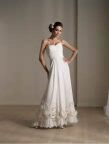 simple a line wedding dress simple a line wedding gown with unique flowers on hemlines ipunya