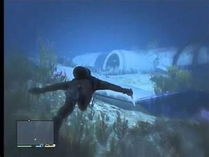 GTA V - Massive Underwater Plane Wreck | Commercial ...