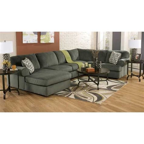 Therapy Sectional by 3pc Pewter Sectional W Laf Chaise Ee 398lc 3pc Living