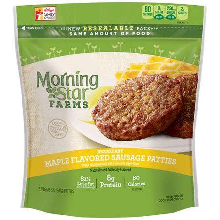 morning star farms breakfast maple flavored sausage veggie