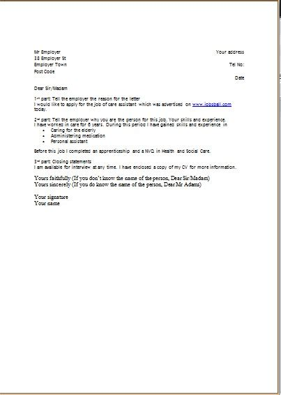 resume  cover letters template