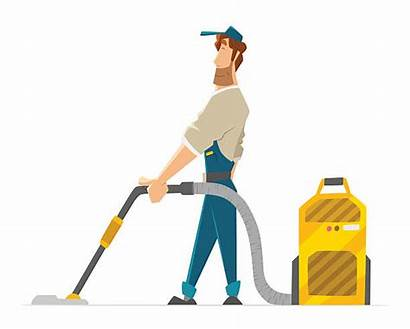 Cleaner Vector Vacuum Floor Cleaning Janitor Holding