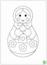 Coloring Dolls Nesting Russian Matryoshka Doll Dinokids Template Printable Matrioshka Close Stacking Activities Sheets Coloringdolls sketch template