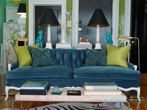 Teal Couch Living Room : 5 Small-room Rules To Break