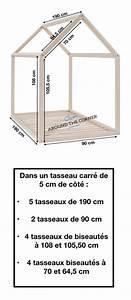 Construire Un Lit Cabane : lit cabane interieur schema diy mesure diy a fabriquer soi meme mesure maison maisonnette en ~ Melissatoandfro.com Idées de Décoration