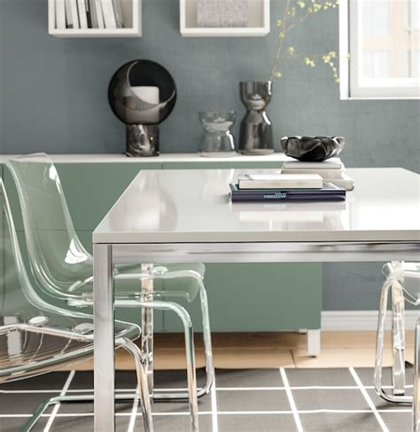 torsby tavolo cromato lucido bianco ikea