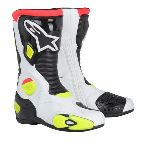 white biker boots alpinestars s mx 5 motorcycle boots white black