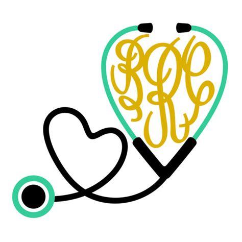 nurse stethoscope svg cuttable frames
