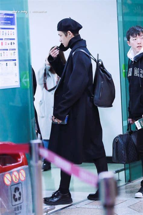 bts  airport style taehyung bts taehyung bts