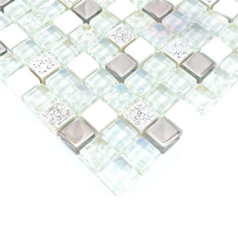 glass and mosaic silver glass tiles