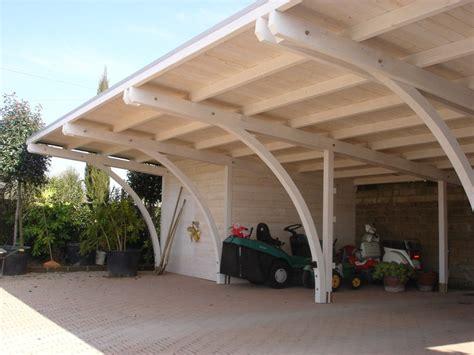 box legno auto carport tecnotenda
