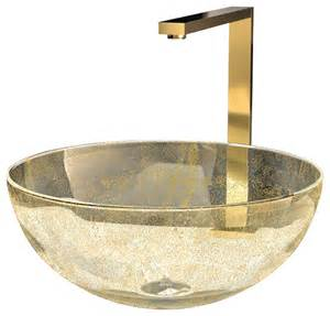 Vintage Kitchen Sink Cabinet by Murano Laguna Luxury Glass Vessel Sink Gold Eclectic