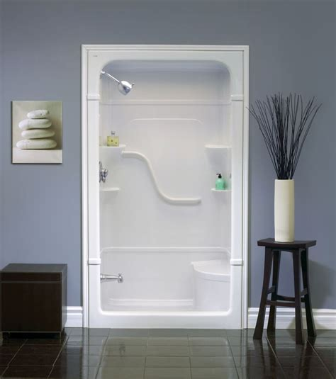 Shower Stalls Canada by 48 Inch 1 Acrylic Shower Stall With Seat