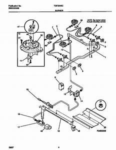 Burner Diagram  U0026 Parts List For Model Tgf334bcwh Tappan