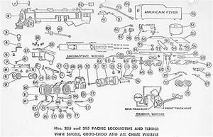 American Flyer Locomotive 285  U0026 295 Pacific Parts List