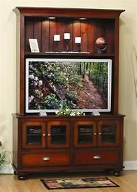 flat screen entertainment center Amish Cantilever Flat Screen Entertainment Center with Drawers